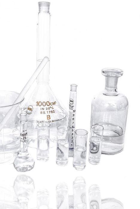 Materialien für ein Labor